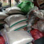 Beras BPNT Tak Bermerk dibagikan E-Warong di Rumah Kepala Desa Cibening Pamijahan