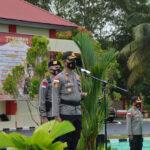 Jelang Pilkada Serentak, Polres Natuna Gelar Apel Pengecekan Pergeseran Pasukan Serpas Dalam Rangka Pengamanan TPS