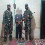 Dalam Satu Hari, TNI TerimaTigaPucuk Senjata Api dari Warga Perbatasan