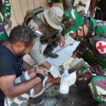 Brimob Polda Kepri Bersama Pasukan TNI Mengelar Pengobatan Gratis Distrik Papua