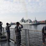 KRI Bung Tomo-357 Latihan Bersama di Laut Arab Dengan Target 'Killer Tomato'