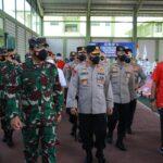 Kompak Panglima TNI Bersama Kapolri Tinjau Pelatnas Karate di Bali