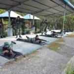 Lanal Nias Latihan Menembak Senjata Laras Panjang