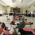 POMAL Lantamal 1 Ikut Donor Darah Sukseskan HUT KE 75