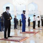 Presiden Jokowi dan PM Muhyiddin Yassin Tunaikan Salat Jumat Berjamaah di Masjid Baiturrahim