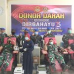 Sambut Hut Pomal 75, Denpom Lanal Batam Donorkan Darah Untuk Rakyat