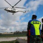 Satgas Indobatt Laksanakan Patroli Udara Pakai Helikopter MI-8
