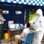 Urdokes Bag Sumda Polres Cilegon  lakukan Pemeriksaan Rapid test Antigen Gratis
