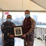 Bersandar Pelabuhan  Beirut Komandan MTF UNIFIL Silaturahmi KRI Sultan Hasanuddin 366
