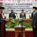 Dilantik Waka II DPRD, Kasat Lantas Dampingi Ahmad Surya