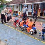 Hore.! Anak-Anak TK Dan Paud Ini Dapat Penyuluhan Tertib Berlalu Lintas Dari Polres Natuna