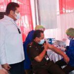 Kejagung Mulai Vaksinasi Covid-19 Rekan Media Ikut penerima Vaksin