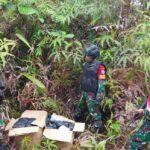 Patroli Jalur Ilegal, Satgas Pamtas Yonif 642 Berhasil Amankan Narkoba