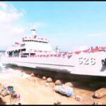 Peluncuran Perdana KRI Teluk Weda-526 Buatan Galangan Batam Indonesia