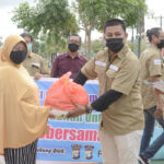 SMSI Kota Batam Salurkan Ratusan Paket Sembako Ke Masyarakat