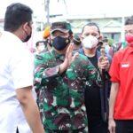Panglima TNIdan Kapolri Tinjau Pelaksanaan VaksinasiDrive Thrudi Lanud Soewondo Medan
