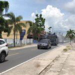 Tekan Angka Penyebaran Covid-19, Polres Natuna Kerahkan kendaraan taktis