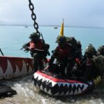 Tiga Kapal Perang Reembarkasi Sukses Berlabuh di perairan Dabo Singkep