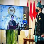 Peringatan Hari Lahir Pancasila Presiden Jokowi Pakai Baju Tanah Bumbu