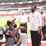 Presiden Minta TNI-Polri Turut Sukseskan Target Dua Juta Vaksinasi pada Bulan Agustus