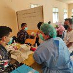Sukseskan HUT Bhayangkara Ke 75, TNI dan Polri Kerahkan Vaksinator Covid 19 Natuna