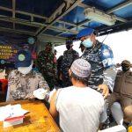 Ship To Ship, Vaksinasi Covid-19 Dilaksanakan TNI AL Banten di Pulau Panjang