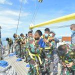 Mantull, Satgas Operasi KJK 2021 Meriahkan Lomba Menyambut HUT TNI AL