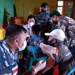 Sambut Dirgahayu TNI AL Lanal Ranai Gandeng Puskesmas Gelar Vaksinasi