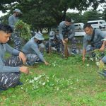 Satgas Operasi KJK 2021 Gelar Baksos Bersama Lanal Morotai
