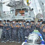 Peringatan HUT KRI Bima Suci Ke-4 Dilaksanakan Di Laut Sulawesi