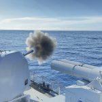 Kapal Perang TNI AL dan RSN Berhasil Tenggelamkan Kapal Musuh Di Laut Natuna